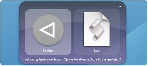 Reiniciar el Mac con Quicksilver