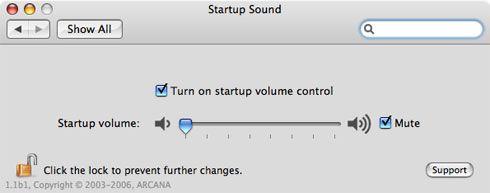 Startup Sound en acción