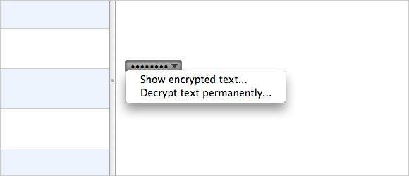 Texto encriptado en Evernote