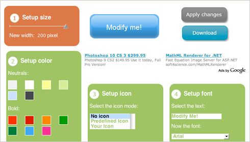 Botones Web 2 gratuitos